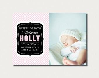 Printable Custom Birth Announcement