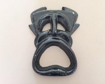 Aluminum Sad Face Sculpture