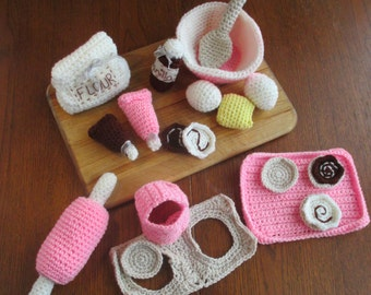 Crochet Baking Play Set