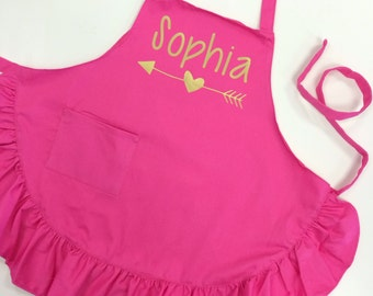 Personalized Apron - Kid's Apron - Paint Apron - Cooking Apron