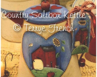 Country Saltbox Kettle, Terrye French, pattern packet email