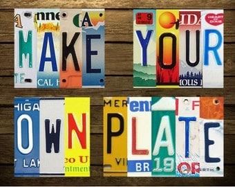 Make Your Own Plate - Custom License Plate Sign