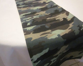 Camo Table Runner,  Birthday , Wedding, Baby Shower , Photo Prop