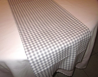 Delightful Gray Gingham Table Runner, Wedding, Bridal Shower, Baby Shower, Graduation,  Birthday