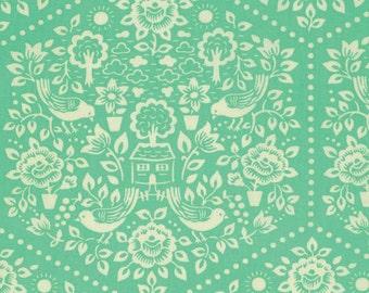 Clementine - Turquoise Summerhouse - Heather Bailey - Free Spirit Fabrics