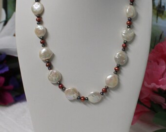 Jnk7 One 19-inches long Freshwater Pearl Necklace