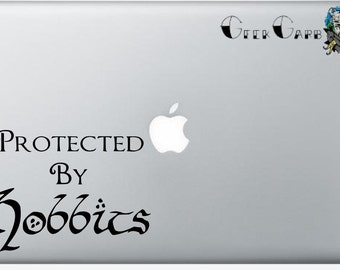 Protected by Hobbits Lord of the Rings Inspired Macbook Decal - Macbook Decal, Laptop Decals, etc...