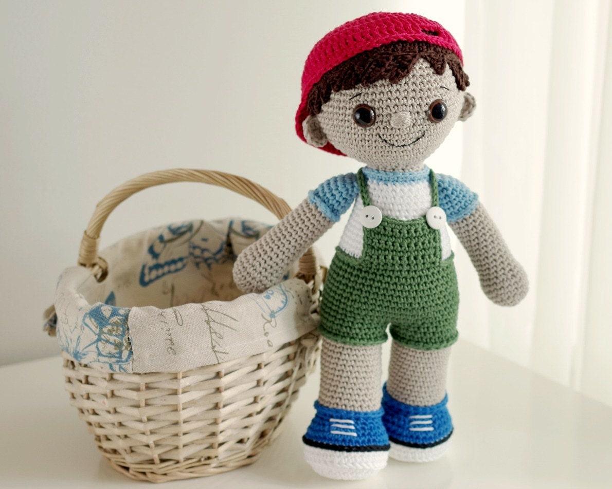 Amigurumi Doll Boy : PATTERN Tobias the Amigurumi Boy Doll crochet amigurumi