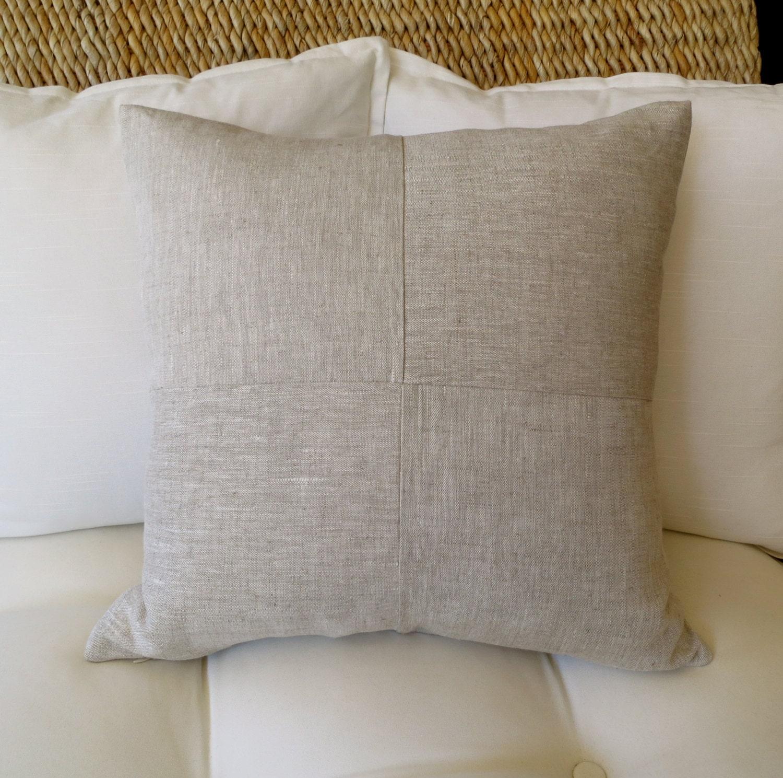 linen pillow cover 18x18 inch 20 x 20 inch modern pillow. Black Bedroom Furniture Sets. Home Design Ideas