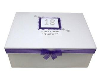 18th Birthday Large Keepsake Box