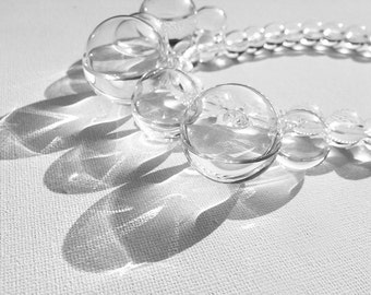 Statement droplet necklace