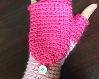 Convertible Mittens for Women (two-toned)