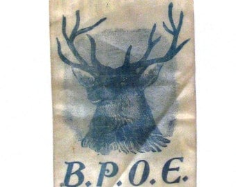 Vintage Miles City Mt Lodge No 537  B.P.O.E white ribbon Elks State Convention 1910 'Cow Town'