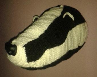 TAXIDERMY STYLE BADGER pdf crochet pattern