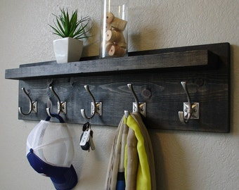 Paloma Coat Rack with Floating Shelf
