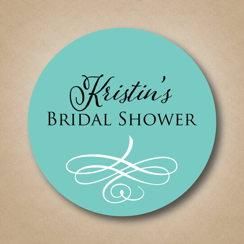 personalized bridal shower favor stickers custom wedding
