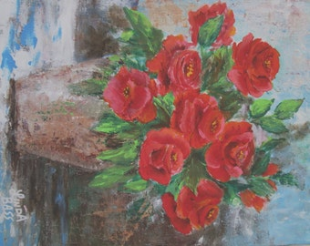 Original Rose painting 11x14