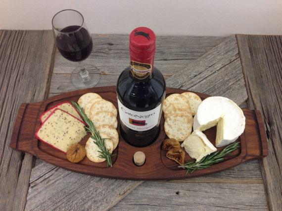 Wine Serving Tray in Walnut