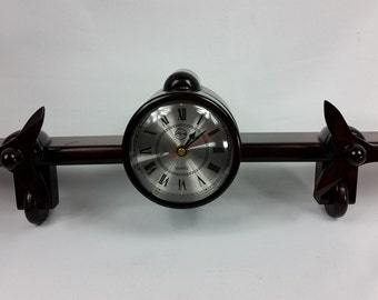 """Vintage RARE! Byplace Rose Wood Wall Clock """"Compliments of China Airlines"""