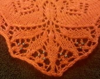 Lace Knit Poppy Shawl