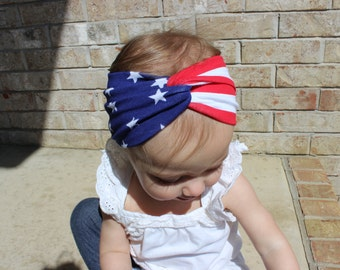 Stars and Stripes Twisted Turban