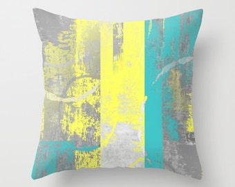 grey yellow and teal living room  rize studios, Bedroom decor