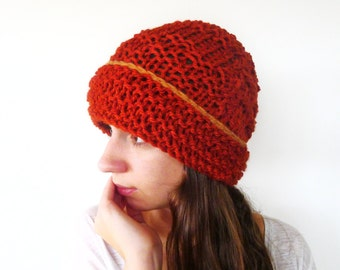 Chunky knit beanie. Knit beanie hat. Wool knit hat. Womens knitted hat. Gift idea for her