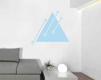 Triangle and Arrows Aztec Wall Decal