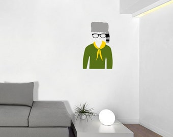 Sam from Moonrise Kingdom Decal