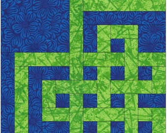 Oriental Knots Chain Paper Templates Quilting Block Pattern PDF