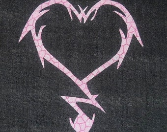 Wicked Heart Lightning Strike Quilting Applique Pattern Design