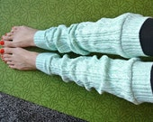 Slouchy Sweater Leg Warmers for Yoga, Fashion Wear, Ballet, and Boots - Mint