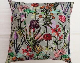 Floral pillow cover / cushion cover - 18x18 inch (45x45cm) botanical decorative pillow, throw pillow, scatter cushion, pillow sham