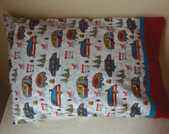 Camping Themed  100 % Cotton Pillow Case