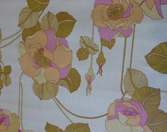 wallpaper vintage 1970s, wallpaper, large pink and green flowers