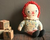 Vintage Raggedy Ann Doll, Small Raggedy Ann, Georgene Raggedy Ann, Vintage Nursery Decor, Vintage Baby Decor, Vintage New Baby Gift