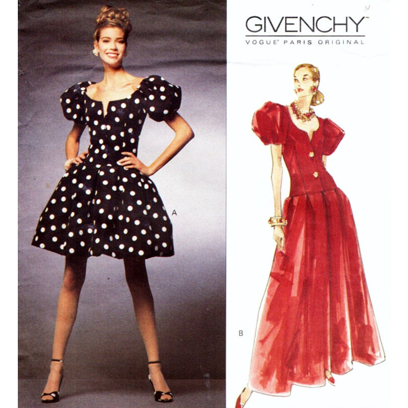 Vogue Sewing Pattern 1138 Misses' Dress GIVENCHY PARIS