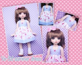 BJD YO-SD 1/6 Polka dot summer dress + hair bow