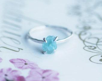 Blauer apatit ring etsy for Verlobungsring blauer stein