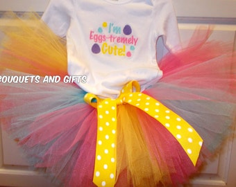 Baby Girl Easter Outfit, Toddler Girl Easter Outfit, Toddler Easter Tutu Set, Baby Easter Tutu Set