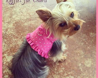 PInk Polka Dot Harness Customizable to your dogs measurements!  Available in other colors! Size  XXS XS Small