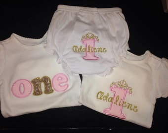 First Birthday - Princess Style!!!!  Choose one or all three!