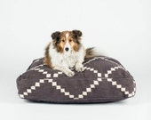 Gray and White Geometric Square Dog Bed by FILLYDOG