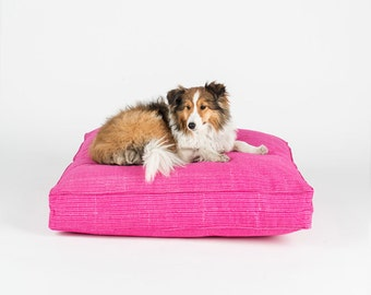 Pink Heart - Hand Block Dog Bed by FILLYDOG