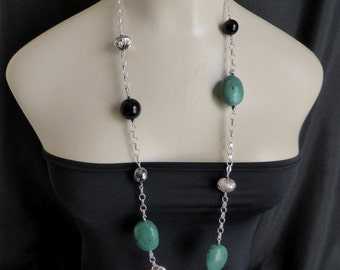 GIANT TURQUOISE Boulder Necklace