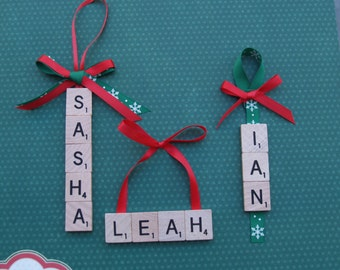 Personalized Scrabble Tile Ornaments