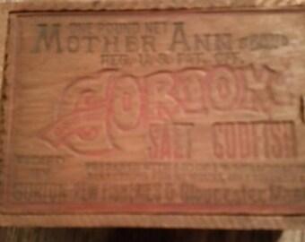 Original Gorton Salt Codfish Wood Box