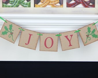 Joy Holiday Banner, Christmas banner, Christmas Sign, holiday decorations, holiday sign, Christmas decor, joy to the world banner