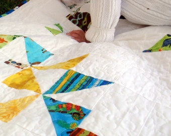 Toddler floor bed etsy for Floor quilt for babies