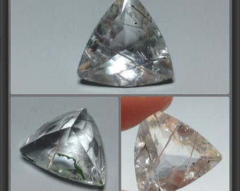 Quartz with Inclusion - faceted - 6.85ct